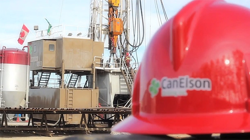 A CanElson rig crew working west of Edson were the winners of a $25 million Lotto Max prize. PHOTO: CanElson Drilling Inc.
