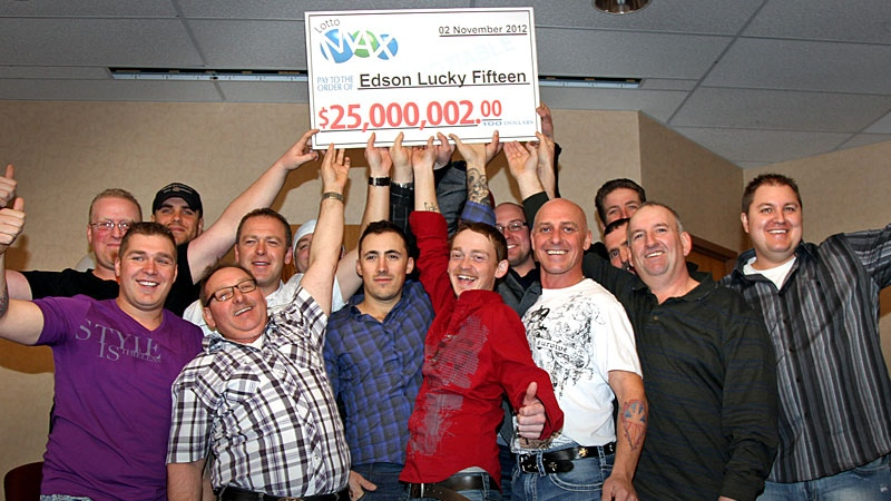 15 Edson-area rig workers are Alberta's newest millionaires. They are splitting a $25 million Lotto Max prize.