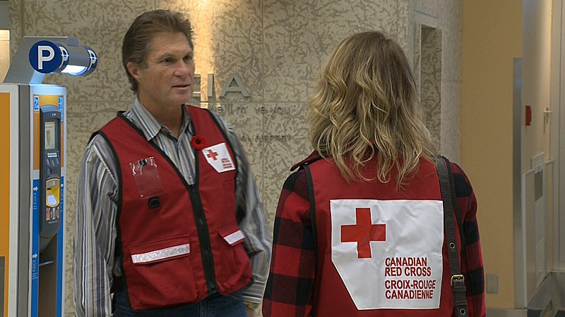 Ernie Eves, a Red Cross volunteer from Edmonton, has flown to New York to help with relief efforts, nearly two weeks after Hurricane Sandy devastated the area.