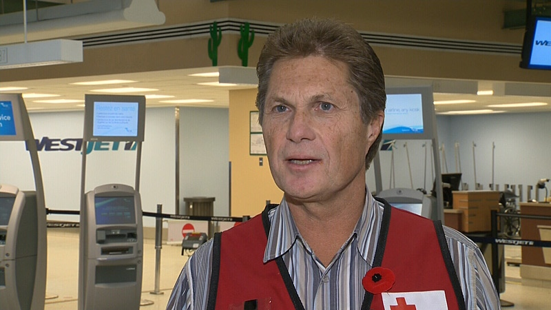 Ernie Eves joins more than a dozen Canadian Red Cross volunteers deployed to New York to help with relief efforts, nearly two weeks after Hurricane Sandy hit.