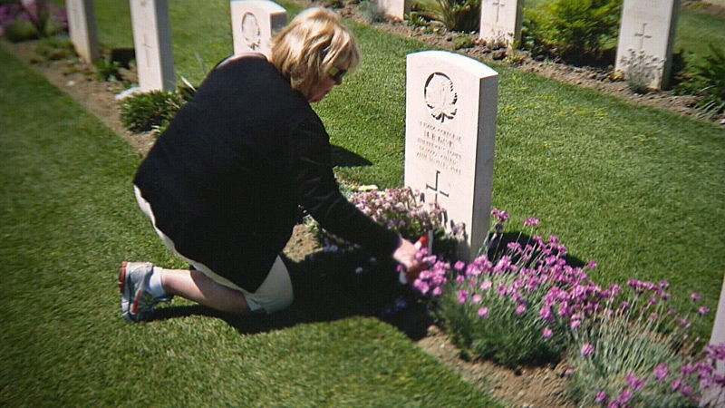 Bev Embury recently travelled to Ortona, Italy, to visit the gravesite of her great uncle Merle Davis, who died fighting during World War II. The trip helped bring closure to Embury's family.