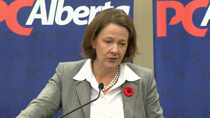 Premier Alison Redford speaks at the Alberta Tories' annual convention.