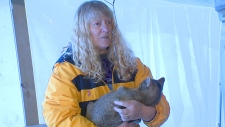 Janice Dodd with cat