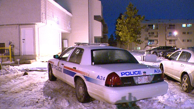 Police on the scene of an assault in the area of 183 St. and 87 Ave. - where two people were pepper sprayed by a number of unknown suspects late Thursday, November 15.