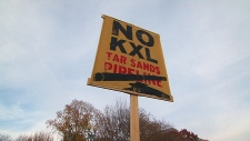 Keystone XL Pipeline, protest