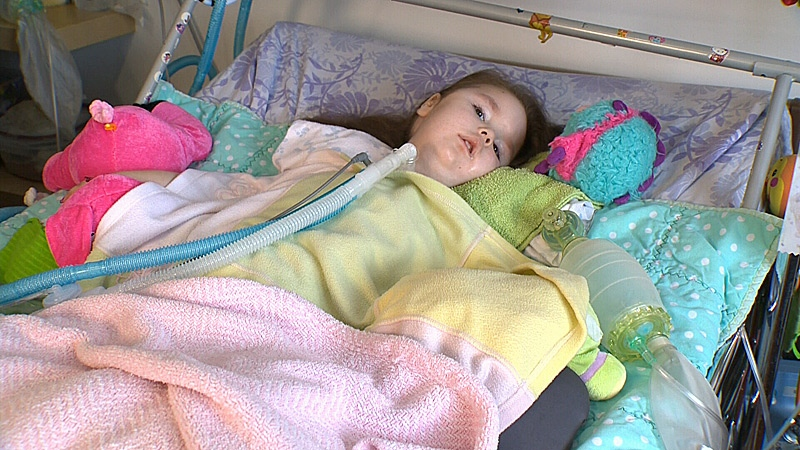 Lisa Lohin's four-year-old daughter Enna has a genetic condition called spinal muscular atrophy. Her weakened muscles means Enna can't speak, eat, sit or walk.