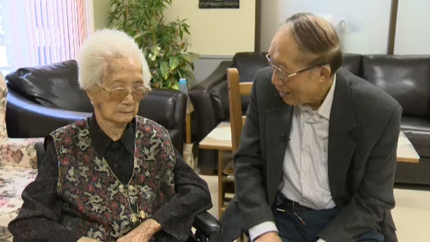 The Edmonton General Hospital's oldest resident, 106-year-old Yoke Mah, has the honour of turning on the lights Thursday night to mark the start of the hospital's annual Lights of Hope fundraiser.