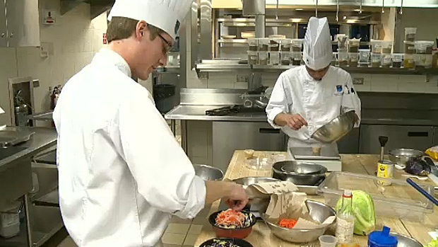 NAIT Culinary Arts students compete to see whose dish will be sold at grocery stores under the Tokyo Express Tetsu Chef product line.