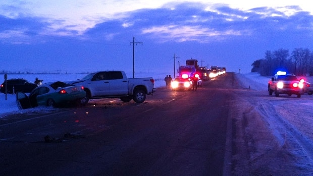 RCMP were called to the scene of a fatal three-collision on Highway 19 east of Highway 60 early Friday morning.