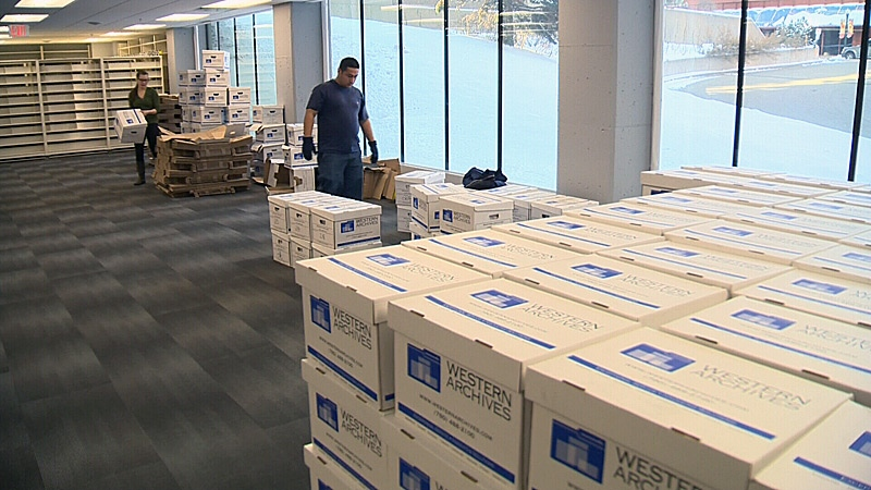 On Friday, several large moving trucks delivered a massive music collection featuring nearly 2 million songs to CKUA's new location in the refurbished Alberta Hotel.