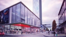 Downtown arena shopping district Edmonton New