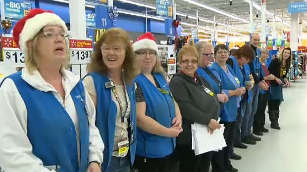 Staff at the Spruce Grove Wal-Mart raise $4,000 for 10-year-old Zach Klassen, who has a rare form of a rare disease and needs money to purchase medication.