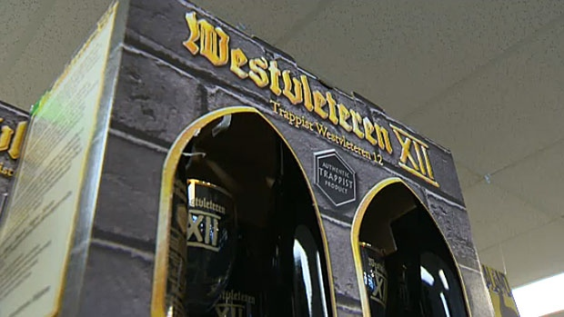 The Westvleteren ale is brewed exclusively by monks at the Trappist Abbey of Saint Sixtus in Belgium and until recently had only been available at the doorstep of the abbey.