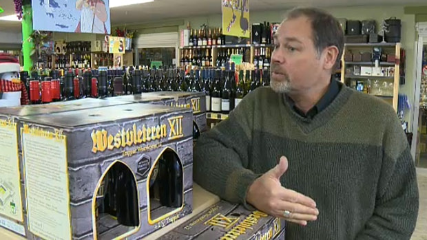 David Middleton with Sherbrooke Liquor says about five per cent of the world supply for Westvleteren beer came to their store.