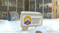 Edmonton Catholic flags