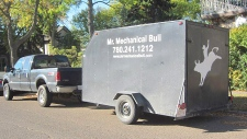 Mechanical bull truck
