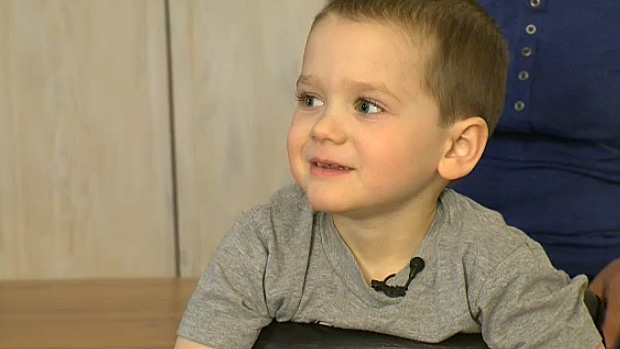 Four-year-old Declan Lord is learning to walk for the second time in his life - after undergoing two surgeries and countless radiation treatment after being diagnosed with a rare spinal cord tumour when he was just a baby.