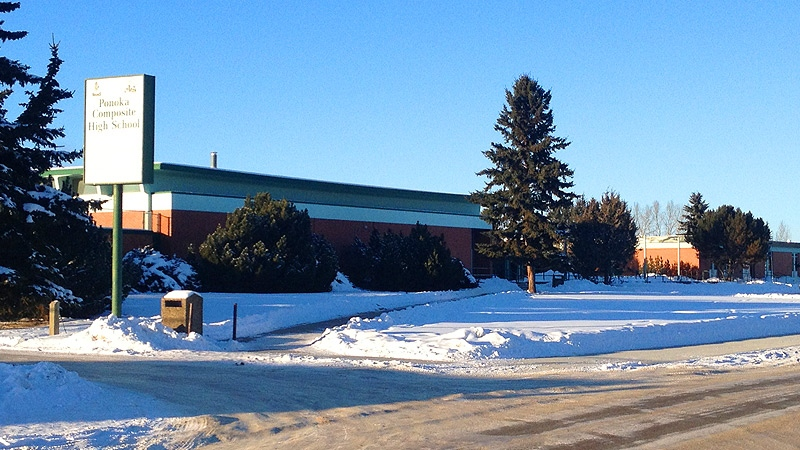 Ponoka Composite High School was closed on Friday, as police investigated an alleged threat.