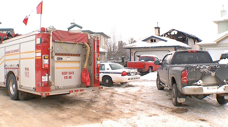 Fire crews were still on the scene on Friday, December 28, after a massive fire tore through a home on Heatherglen Close in Spruce Grove overnight.