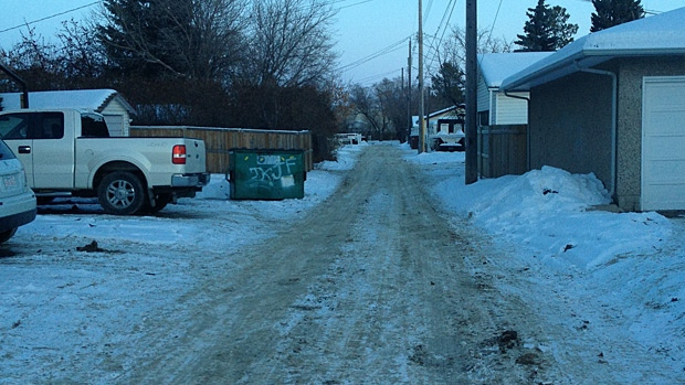 Residents tell CTV News this alley way was cordoned off Tuesday morning as Red Deer RCMP investigate their first homicide of the year.