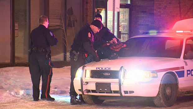 Police were kept busy on New Year's Eve including a car chase on 156 Street that led to the arrest of this suspect.