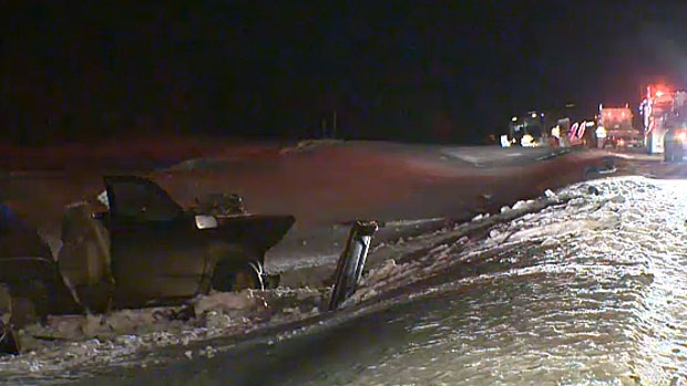 Police say the driver of an SUV involved in a collision on Highway 63 Wednesday night died at the scene. The collision involved a Red Arrow bus.