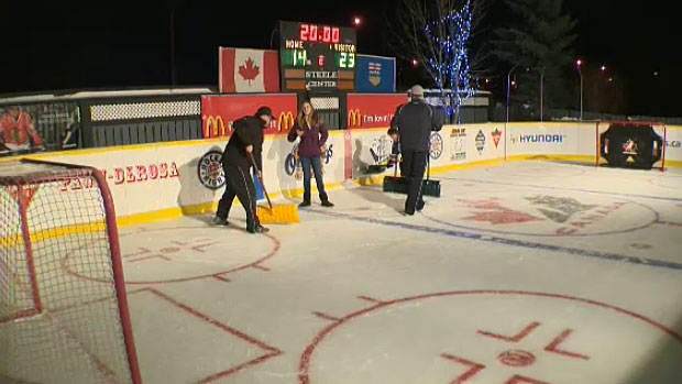 Leduc couple Erron and Christa Steele have built an impressive backyard hockey rink for their kids and friends to enjoy. The project began years ago and has grown bigger and better each year.