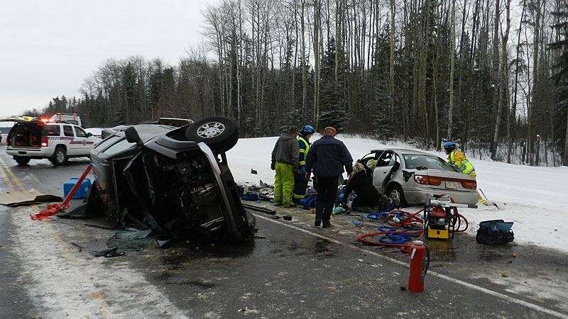 One man is dead after a collision on Highway 63 north of Wandering River Sunday. The crash was one of three fatal highway crashes on Sunday.