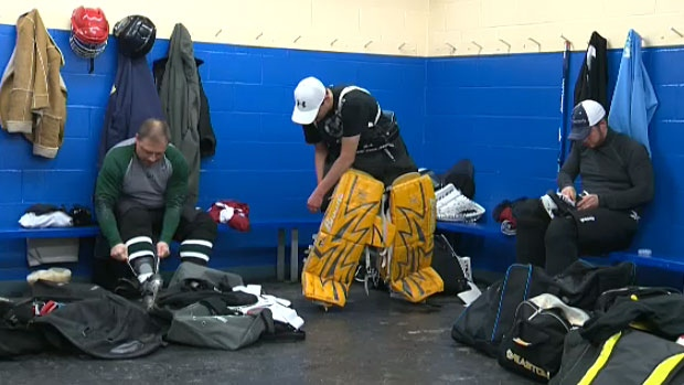 Some Edmontonians are proving it's never too late to realize your dream: they've enrolled in a hockey program aimed at adults who've never played before and suited up to hit the ice for the first time Monday night.