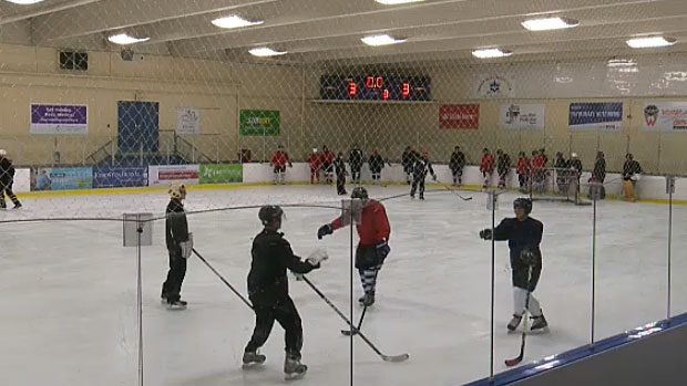 Thirty-two adults enrolled in the NCHL Beginner Program hit the ice on Monday as part of their 12-week session to learn how to play hockey. By the end of the program adults typically move onto joining or forming their own hockey teams and continuing to play.