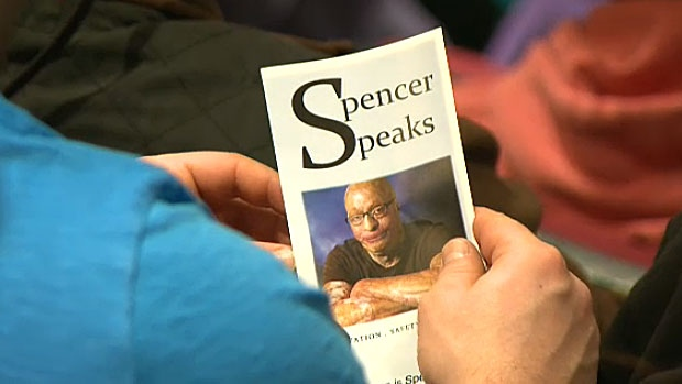 A workplace accident burned 90 per cent of Spencer Beach's body. He has since become a motivational speaker, talking safety, recovery, understanding anger, and overcoming suicidal thoughts and depression.
