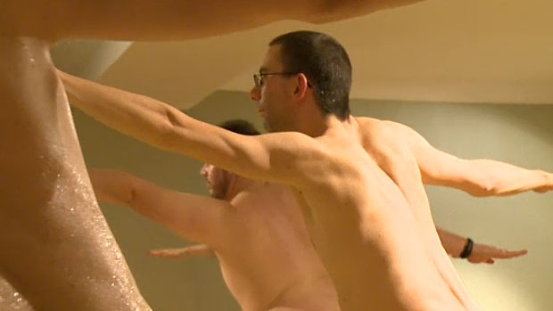 Instructor Chris McBain believes his mens-only naked yoga class is the only class of its kind being offered in Edmonton, and one of only a few across Canada.