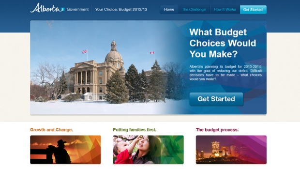 Alberta Budget 2012/2013 website