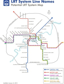 Approved LRT Line names