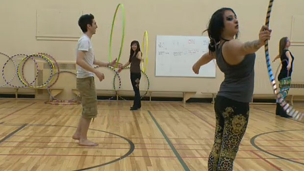 Hula hoop students tell CTV News they love the activity and say it works out the core and gets their heart pumping.
