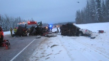 Hwy 881 collision, Feb. 6, 2013