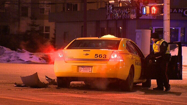 A series of collisions, allegedly caused by a suspected drunk driver, forced Edmonton police to shut down part of 106 Avenue for several hours Friday morning.