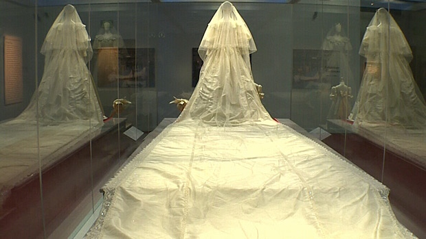 The wedding dress that Diana wore is one of the main attractions for the exhibit, which will be at the West Edmonton Mall until June 9.
