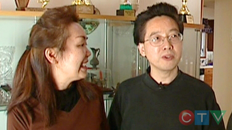 Xinmei Chen and Zhixiang Wang in a still from an unrelated CTV Edmonton story, dating back to 2007.