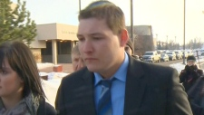 Brenden Holubowich appears in court