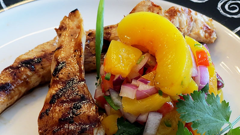 Grilled chicken with peach salsa ctv edmonton news for Phil s fish grill