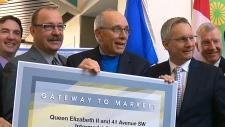 Intermodal Project announcement, 41 Avenue, QEII