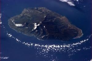 An aerial view of Kauai, Hawaii.