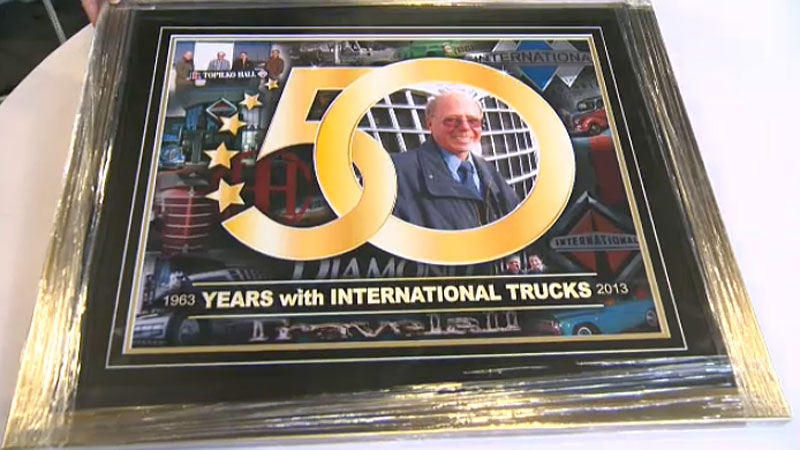 It's a rare milestone that was celebrated on Friday. Marshall Topilko was honoured for marking 50 years at the same company.
