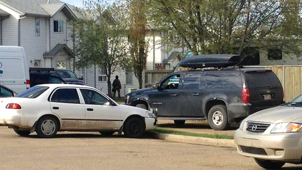 Red Deer, armed and barricaded suspects