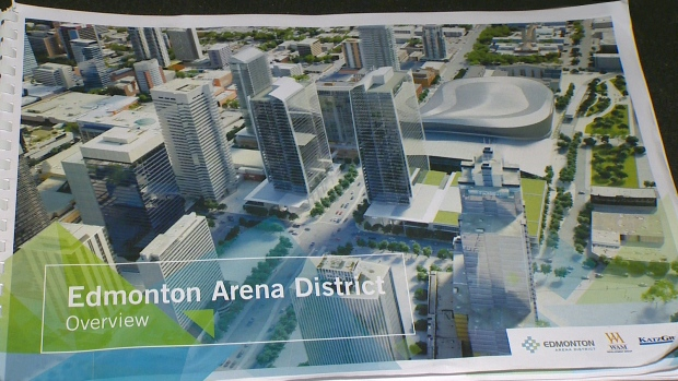 CTV News obtained images showing what Edmonton's downtown arena district could look like in the future.
