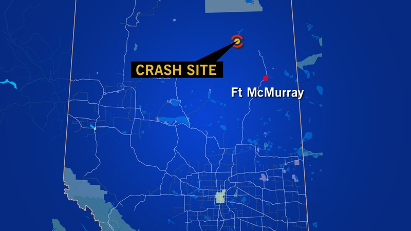RCMP in northern Alberta said a chopper crash was reported Wednesday, May 29 at about 12:15 p.m. 128 km north of Fort McMurray - three people were on board.