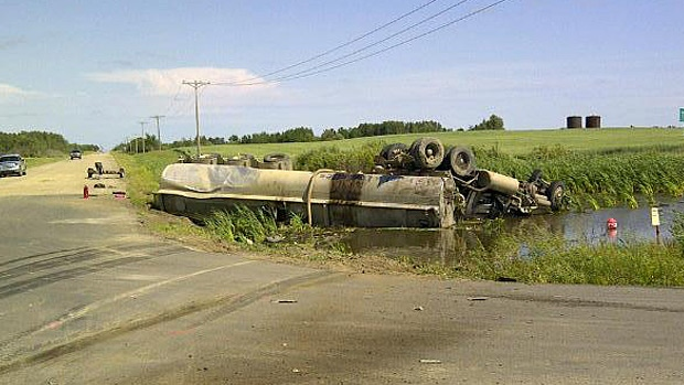 Police said six people have died after a collision southeast of Lloydminster. Photo courtesy RCMP.