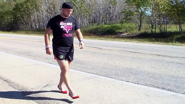 Alberta man begins nine day walk in high heels to help ...