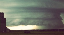 A prairie storm is captured by an Edmonton storm chaser on Thursday, July 7, 2011.